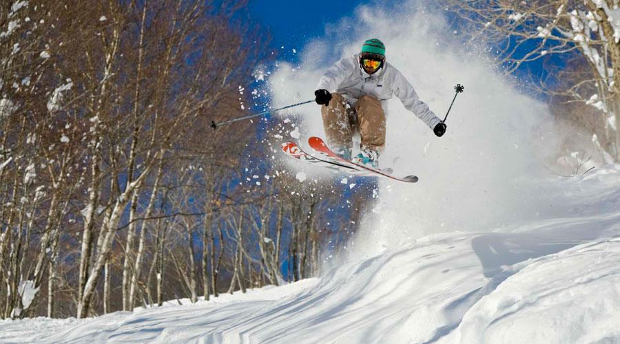 斑尾高原スキー場 スキーヤー