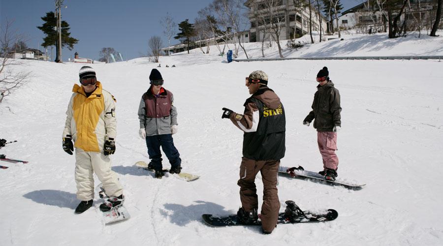 斑尾高原スキー場 スノボ初心者レッスン